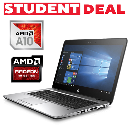 HP ELITEBOOK 745 G3 AMD PRO A10-8700B 256GB SSD 8GB AMD R6 14