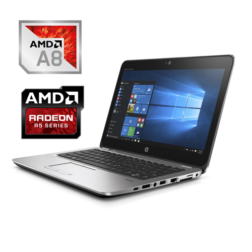 HP ELITEBOOK 725 G4 AMD A8-PRO 9600B 256GB SSD 8GB AMD R6 12,5″ HD W10