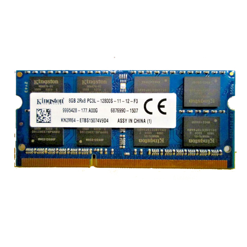8GB Kingston DDR3L 12800S 1600MHz Notebook